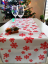 Table Runner Snowflakes Different Colors - Pattern variant: Red snowflake