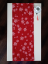 Table Runner Snowflakes Different Colors - Pattern variant: White snowflake on red