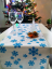 Table Runner Snowflakes Different Colors - Pattern variant: Blue snowflake